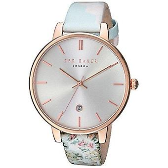 Ted Baker Kate rosa ouro chapeado caso Floral couro Strap Mens Watch TEC0025003 38mm