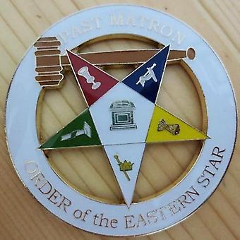 Past matron order of the eastern star car emblem