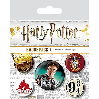 Harry Potter Gryffindor Pin Buton Insigne Set