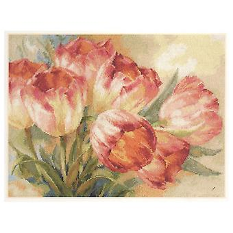 Alisa Cross Stitch Kit - Tulips
