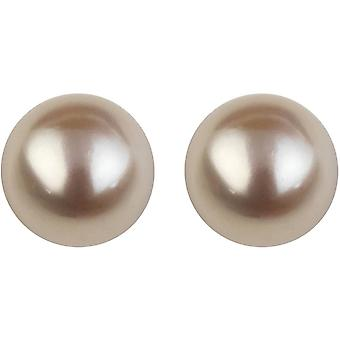 Orton West 11mm Freshwater Pearl Stud Earrings - wit