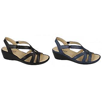 Eaze Womens/Ladies Comfort Wedge Sandals