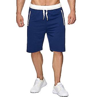 Allthemen Men's Tethered Contrast Casual Mid-Rise Shorts