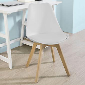 Krzesło do jadalni SoBuy Białe FST58-W