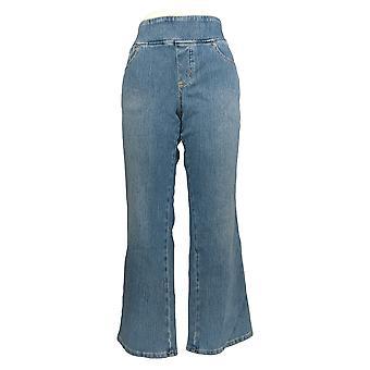 Belle by Kim Gravel Women's Petite Jeans Flexibelle Boot-Cut Blue A311352 #0