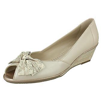 Senhoras Van Dal Peep Toe sapatos Flórida II