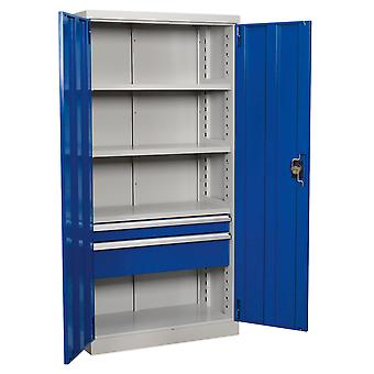 Sealey Apiccombo2 Industrial Cabinet 2 Drawer 4 Shelf 1800Mm