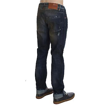 Blue Wash Cotton Regular Straight Fit Jeans SIG30481-1