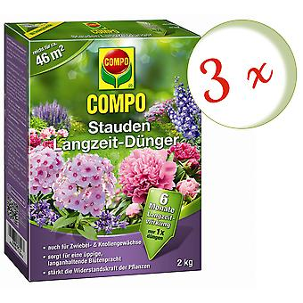 Sparset: 3 x COMPO perennials long-term fertilizer, 2 kg