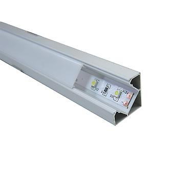 Jandei 4 * 1 Meter Profile Aluminum Strip Led Corner With Translucent Cover 19.3x19.3mm