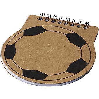 Bullet Score Football Shaped Notebook