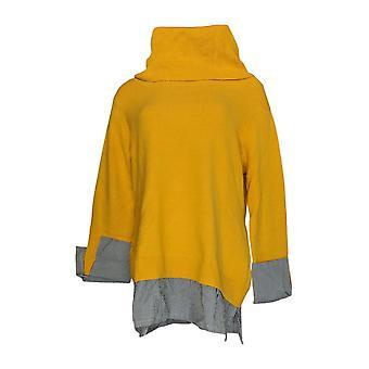 Du Jour Women's Sweater Turtleneck Tunic Yellow A344818