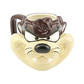 Taz a forma di tazza 3D concesso in licenza Looney Tunes Tea Coffee Drinking Cup