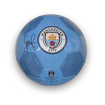 David Silva Signed Manchester City Football