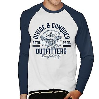 Divide & Conquer Outfitters New York Men's Baseball Long Sleeved T-Shirt