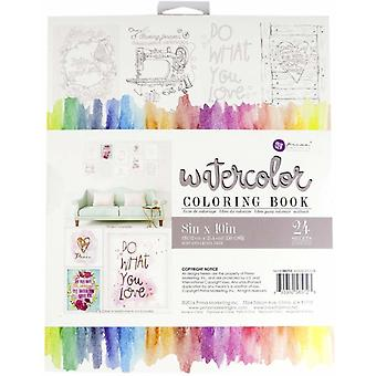 Art Philosophy Watercolor 8x10 Inch Coloring Book