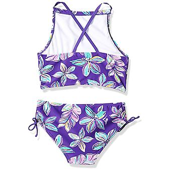 Kanu Surf Big Girls' Daisy Beach Sport Halter Tankini 2-Piece Swimsuit, Charl...