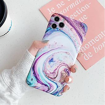 Moskado iPhone 7 Case Marble Texture - Shockproof Glossy Case Granite Cover Cas TPU