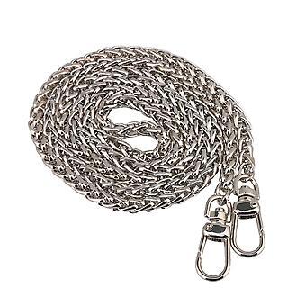 Silver Color Metal Purse Chain Strap Handle Shoulder