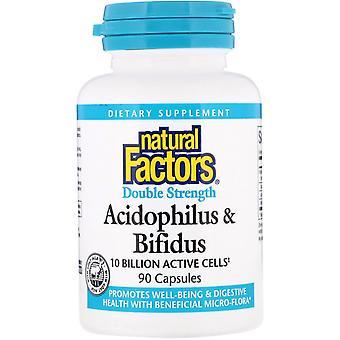 Natürliche Faktoren, Acidophilus & Bifidus, Doppelstärke, 10 Milliarden aktive Zellen