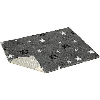Non-slip Vetbed Mottled Grey With Stars & Paws - 54 inch x 30 inch