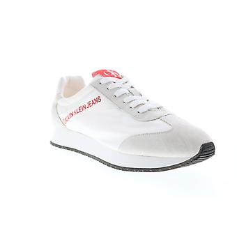 Calvin Klein Jerrold  Mens White Casual Fashion Sneakers Shoes