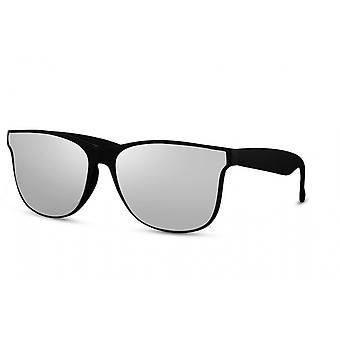 Okulary przeciwsłoneczne Unisex Prostokątny pełny oprawiony kot. 3 czarny/szary