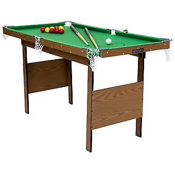 Charles Bentley Junior 4ft Table de billard américaine avec boules de billard et 2 repères