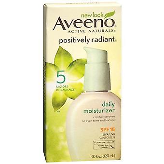 Aveeno positively radiant daily moisturizer, spf 15, 4 oz *