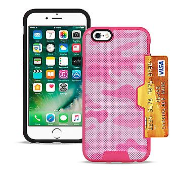 Camouflage Cover til Apple iPhone 6/6s Hard Camouflage Design Camouflage Pink