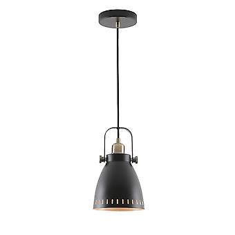Luminosa Beleuchtung - kleine Decke Kuppel Anhänger, 1 x E27, Matt schwarz, antike Messing, Khaki
