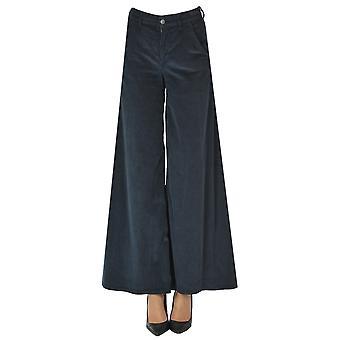 Atelier Cigala's Ezgl457020 Women's Blue Velvet Pants