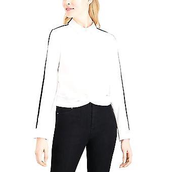 Maison Jules | Twisted Velvet-Trim Shirt