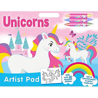 Unicorn Large A3 Coloring Book With Stickers & Crayons