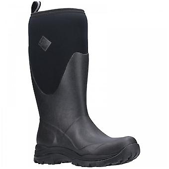 Muck Boots Black Arctic Outpost Tall Fleece Lined Warm Wellington Boots