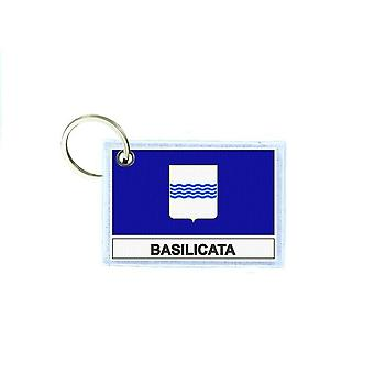 Porte cles cle clefs imprime double face drapeau italie basilicate