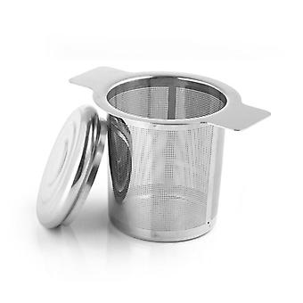 Théière de passoire réutilisable en acier inoxydable - Thé en vrac, filtre d'épice de feuille