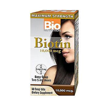 Bio Nutrition Inc Biotin, 10,000 mcg, 60 Tabs