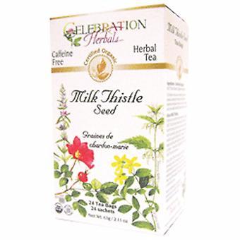 Celebration Herbals Organic Milk Thistle Seed Tea, 24 Bags