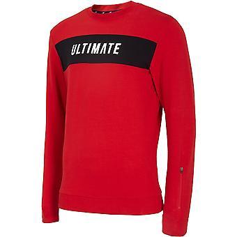 4F BLM014 H4L20BLM014CZERWONY universal all year men sweatshirts