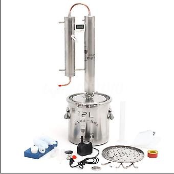 Alcohol Ethanol Distiller Home Brew Still Moonshine Wine Making Boiler 316 Stainless Steel