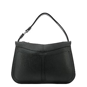 Orciani B02084softnero Women's Black Leather Shoulder Bag