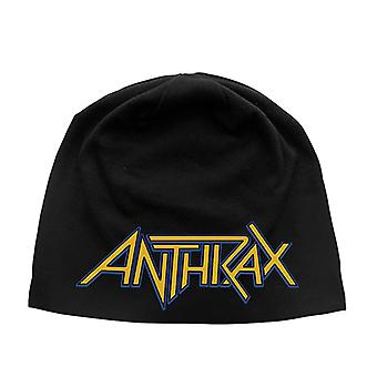 Anthrax Beanie Hat band logo new Official Black Jersey Print