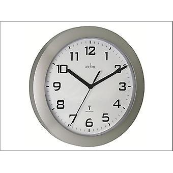 Acctim Peron Radio Controlled Wall Clock Silver 74367