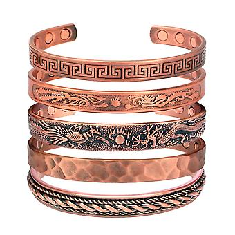 MPS® Pure Copper Magnetic Bracelet Arthritis Pain Relief Health Magnet Therapy MAHIKAA COLLECTION Wristband for Men and Women