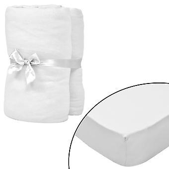 vidaXL stretch bed sheets cot 4 pcs. 70x140 cm cotton jersey white