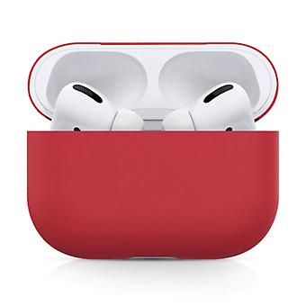 SIFREE Flexible Case for AirPods Pro - Silicone Skin AirPod Case Cover Smooth - Red