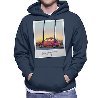 Citro�n 2CV Wish You Were Here Photo Men's Hooded Sweatshirt