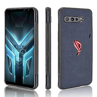 Asus ZS661KS/ ROG Phone 3 Strix Shockproof Sheep Skin PC + PU + TPU-kotelo (sininen)