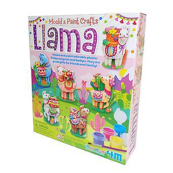 Childs mugg og maling Lama håndverkkit